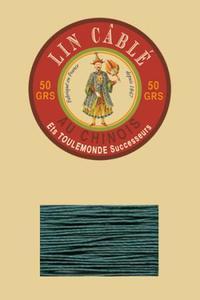 332皮革用麻蜡线--50g线轴--750孔雀蓝