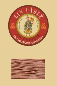 632皮革用麻蜡线--50g线轴--330棕色