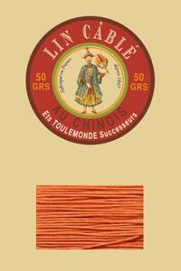 332皮革用麻蜡线--50g线轴--419橙色