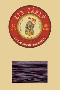 832皮革用麻蜡线--50g线轴--346深紫色