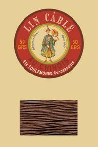 532皮革用麻蜡线--50g线轴--276栗色