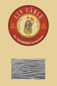 332皮革用麻蜡线--50g线轴--992鼠灰色