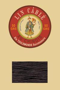 332皮革用麻蜡线--50g线轴--901暗棕色