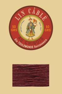 832皮革用麻蜡线--50g线轴--425砖红色