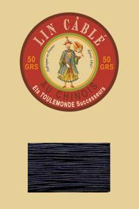 832皮革用麻蜡线--50g线轴--246海军蓝