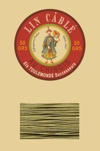 332皮革用麻蜡线--50g线轴--643青苔色