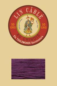 832皮革用麻蜡线--50g线轴--218蓝紫色