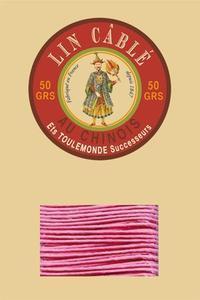 332皮革用麻蜡线--50g线轴--200糖果粉