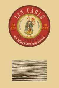 332皮革用麻蜡线--50g线轴--359灰色