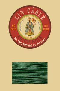632皮革用麻蜡线--50g线轴--767绿色