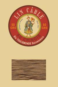 332皮革用麻蜡线--50g线轴--185米色