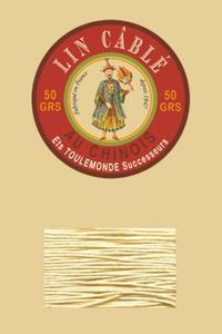 332皮革用麻蜡线--50g线轴--571本色