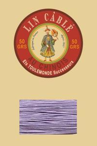 332皮革用麻蜡线--50g线轴--497浅紫色