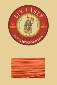 432皮革用麻蜡线--50g线轴--419橙色