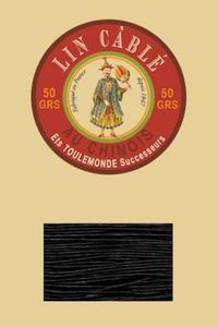 332皮革用麻蜡线--50g线轴--180黑色