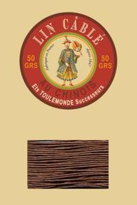 332皮革用麻蜡线--50g线轴--276栗色