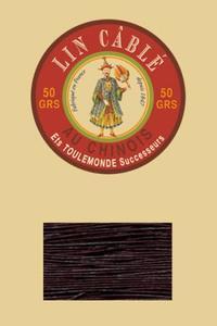 832皮革用麻蜡线--50g线轴--369暗葡萄紫色