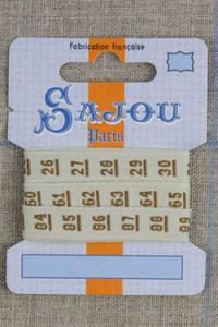 编织带11毫米 - 软尺 米色