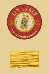 332皮革用麻蜡线--50g线轴--508黄色