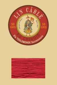 832皮革用麻蜡线--50g线轴--128红色