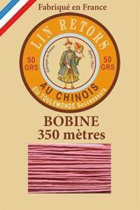 40号复古光面打蜡亚麻线- 350米大轴 - 600-旧粉色