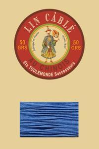 832皮革用麻蜡线--50g线轴--665皇家蓝