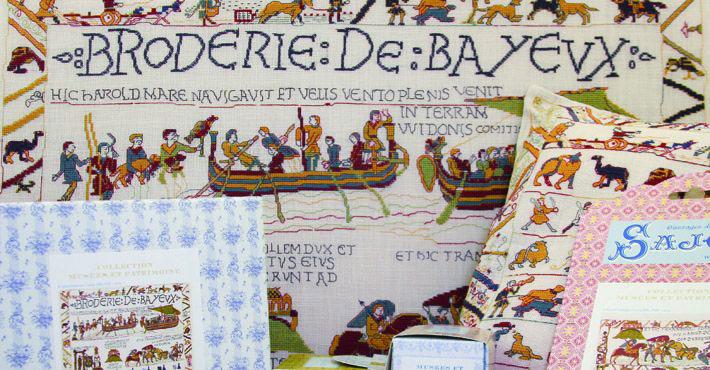 Sajou 集合博物馆和遗产 Bayeux<br /> 收藏博物馆和文化遗产-卡昂<br /> A 十字绣杰作贝叶挂毯的鼓舞。